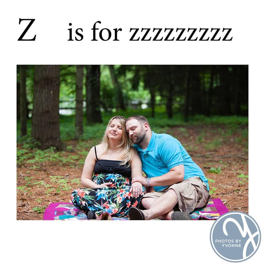 Baby Bump ABC book Z