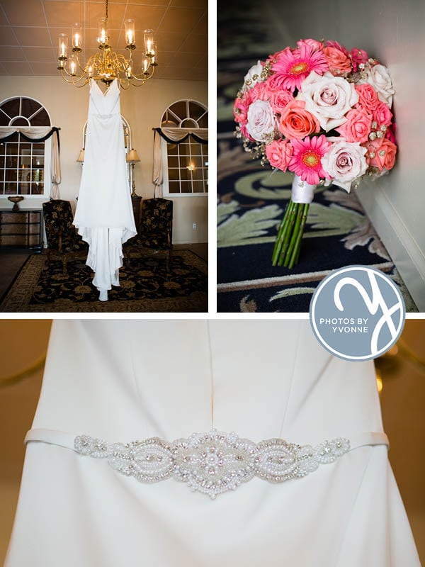 wedding dress the gown shop and bouquet by hafner florist