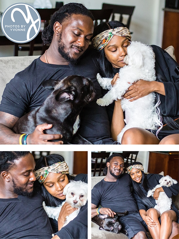 family lifestyle photos with Isaiah Crowell