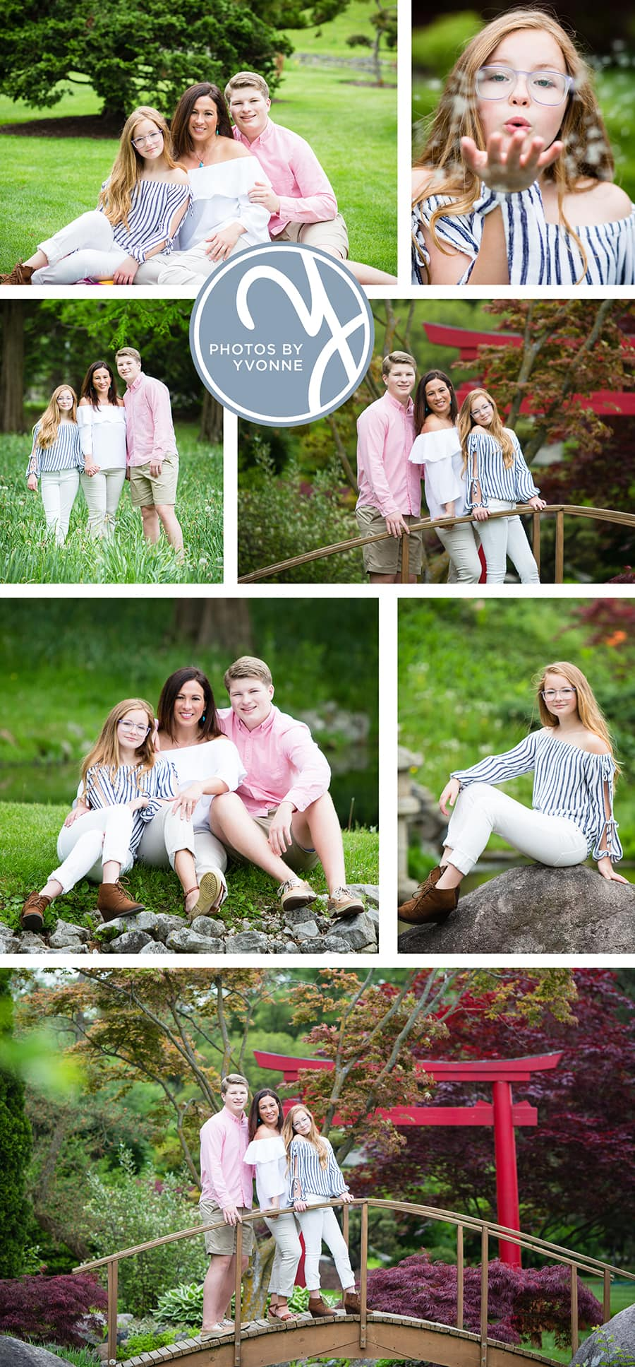 Family photos in Schedel Gardens