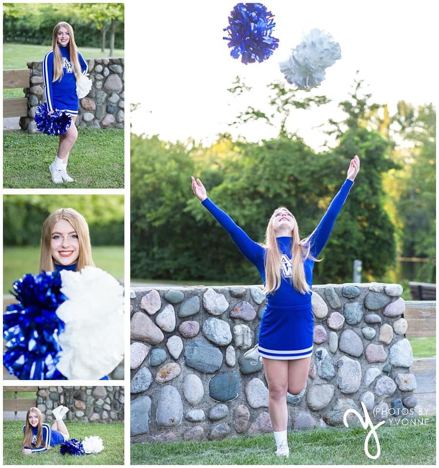 cheer leader senior pictures