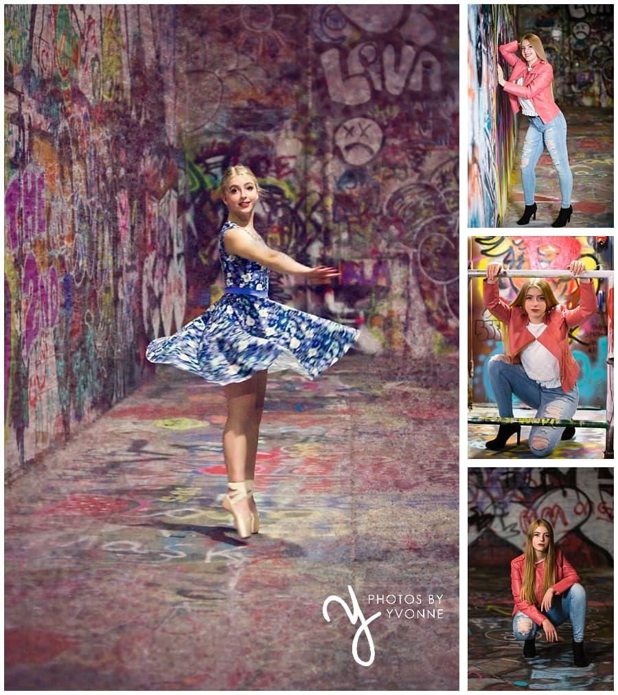 graffiti alley ballerina senior pictures
