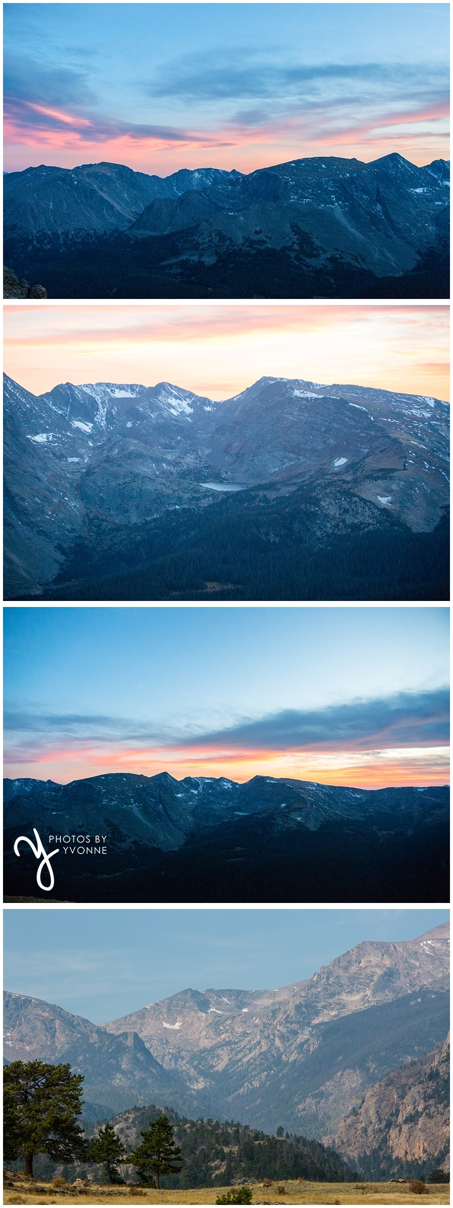 our short trip to Rocky Mountains National Park sunset